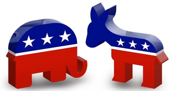 Republikeinen versus Democraten
